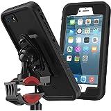 Coque Étanche iPhone 6 / iPhone 6s, Moonmini Antichoc Moto/Vélo Bicycle Mount Holder Support de Guidon Avec des Réglages de Rotation à 360 degrés et protecteur d'écran pour iPhone 6 / iPhone 6s 4.7 inch Téléphone (Noir)
