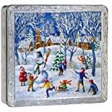 Churchill's Winter Wonderland Tin with Biscuit Assortment 400g/14.1oz. MADE IN BRITAIN