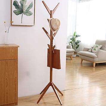 Coat rack Perchero de madera Estante de soporte 8 ganchos ...