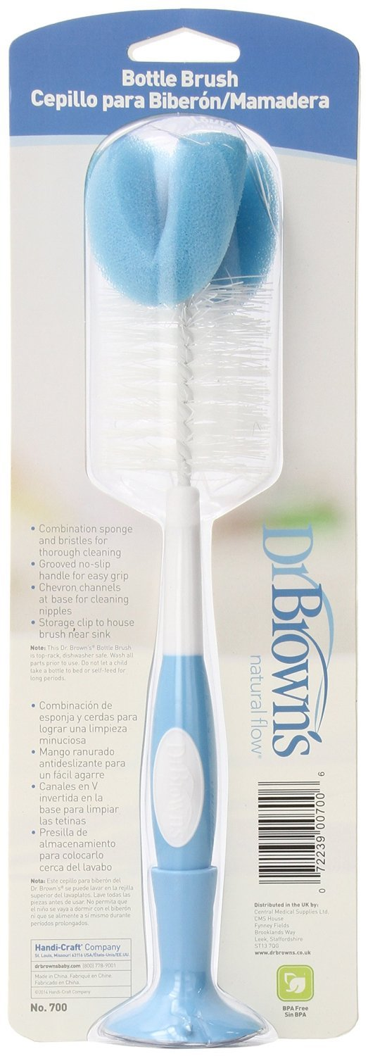 Dr. Brown's Bottle Brush - Blue - 2 Count by Dr. Brown's