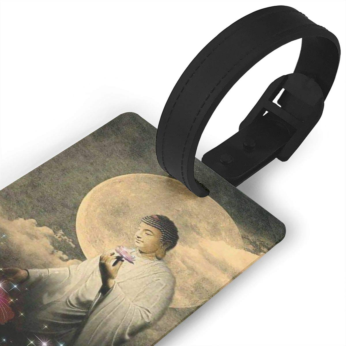 Buddhism Handbag Tag For Suitcase Bag Accessories 2 Pack Luggage Tags
