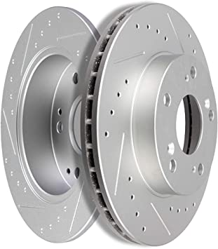 Front /& Rear Brake Rotors /& Ceramic Pads For 2004 2005 HONDA CIVIC Si HATCHBACK