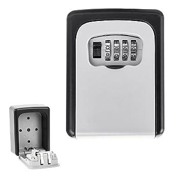 ZhongYeYuanDianZiKeJi Caja de cerradura para llaves, caja fuerte portátil montaje en pared Combinación de llaves, caja de seguridad de almacenamiento para el hogar, garaje, escuela: Amazon.es: Industria, empresas y ciencia
