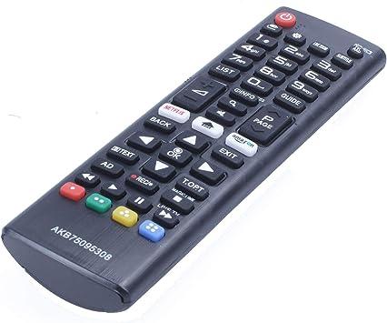 SODIAL TV/Pc Control Remoto para LG Smart Led TV Akb75095308 55Uj630V 65Uj630V 43Uj630V: Amazon.es: Electrónica