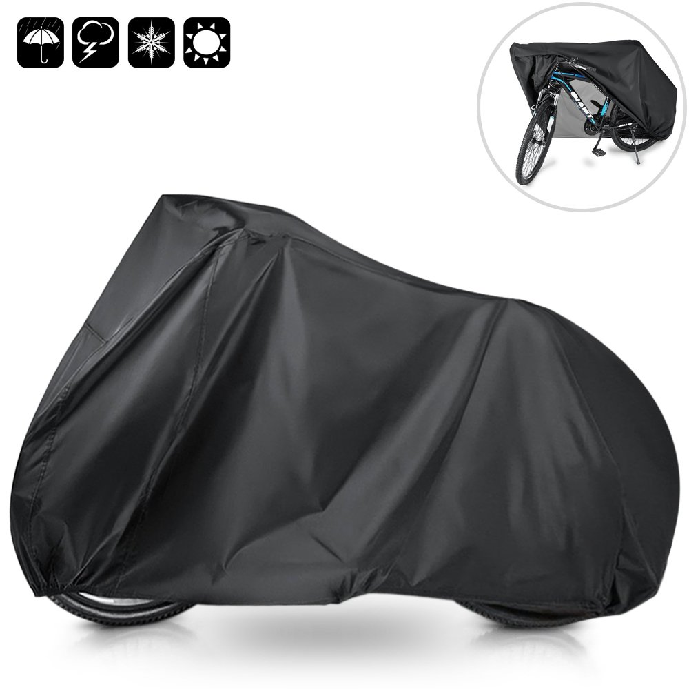 mixigoo Bike cover Waterproof Bicycle Cover 210T Outdoor Anti Dust Rain UV Protection Bike Rain Cover for Mountain Bike/Road Bike with Storage Bag