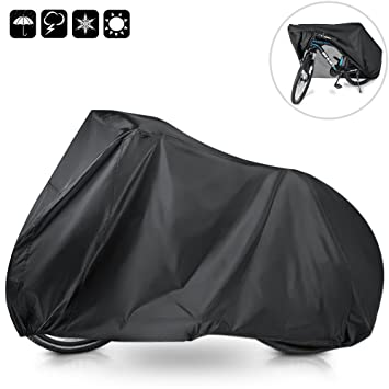 WisFox Bike Cover 190T Nylon Outdoor Waterproof Bicycle Cover Anti Dust Sun Rain