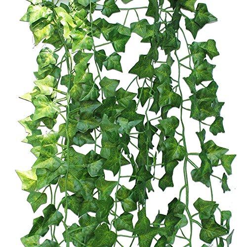 Artificial Ivy Fake Foliage Leaf Flowers Plants Garland Garden Decoration 2M - 7