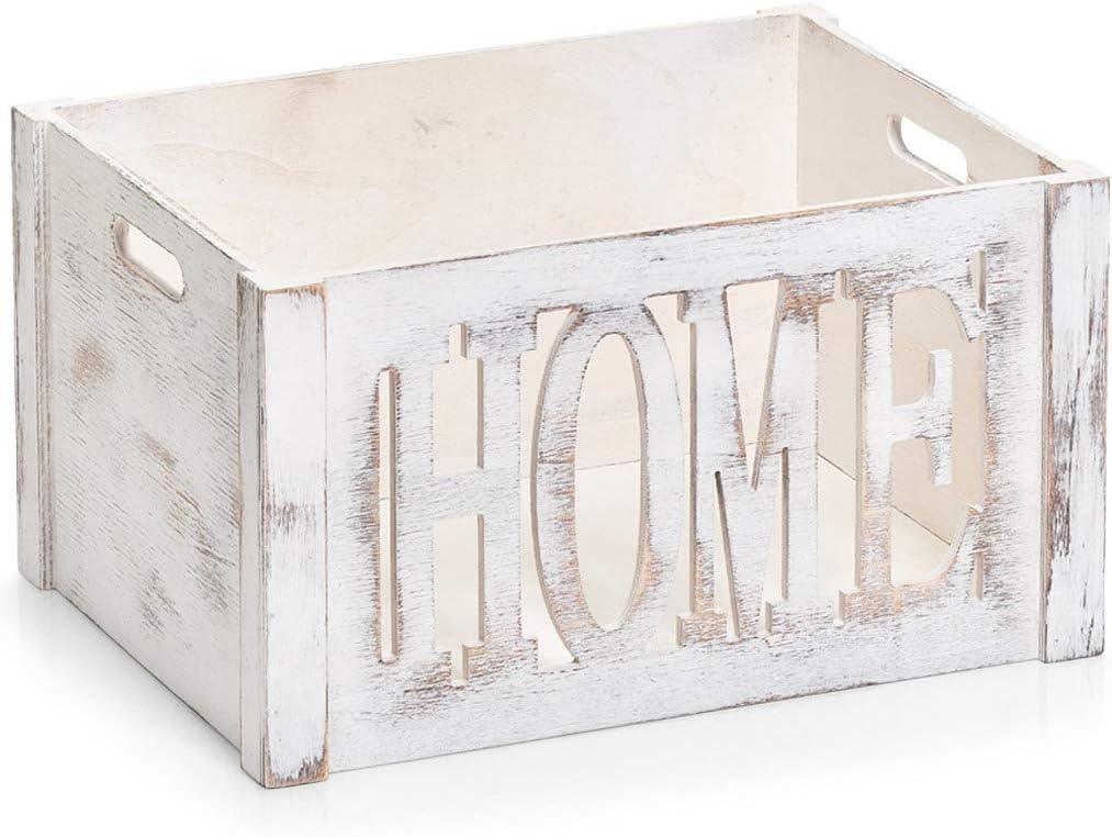 Zeller 15185 Home - Caja de almacenaje (Madera): Amazon.es: Hogar