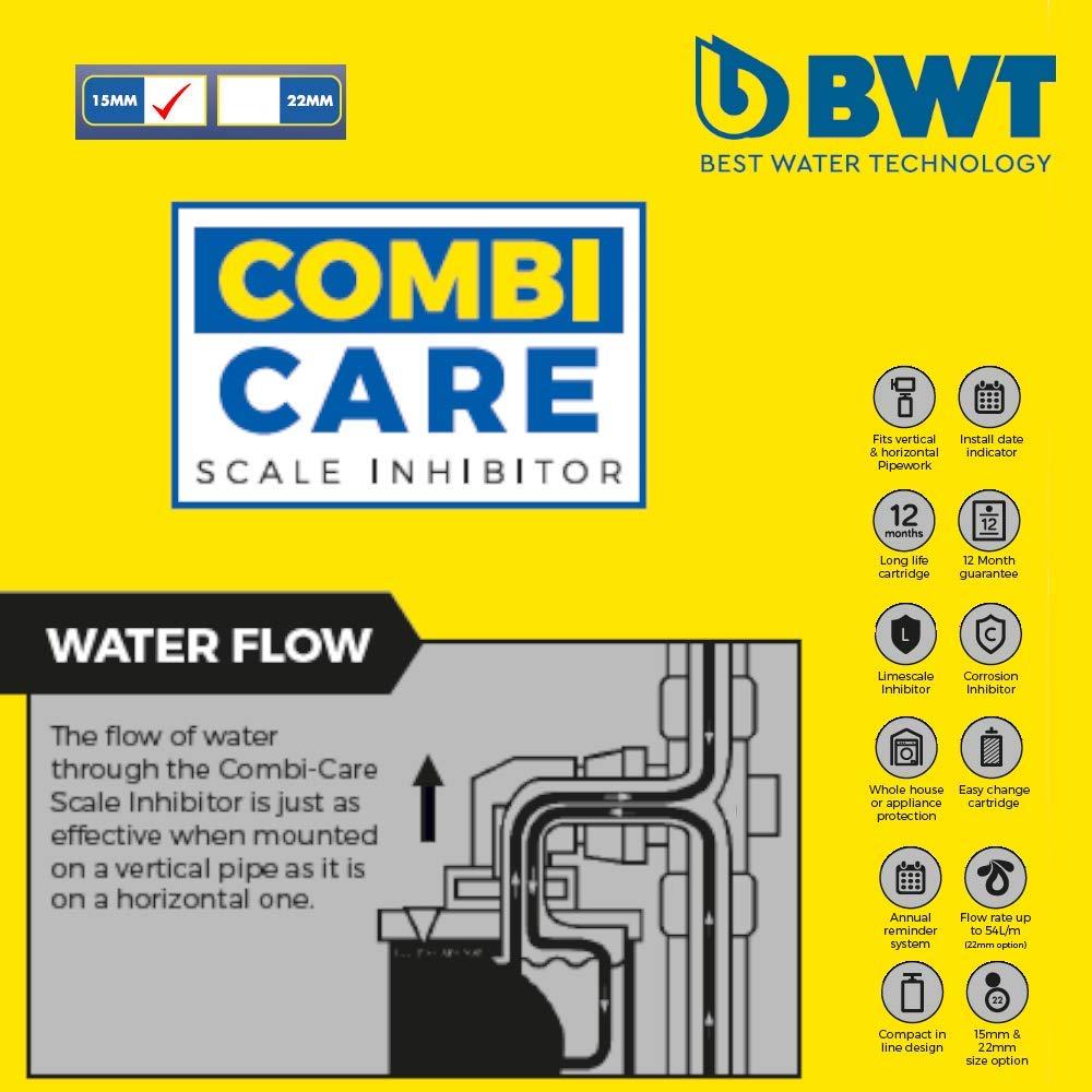 BWT AC002100 Inhibidor a escala de polifosfato de cuidado combinado color blanco