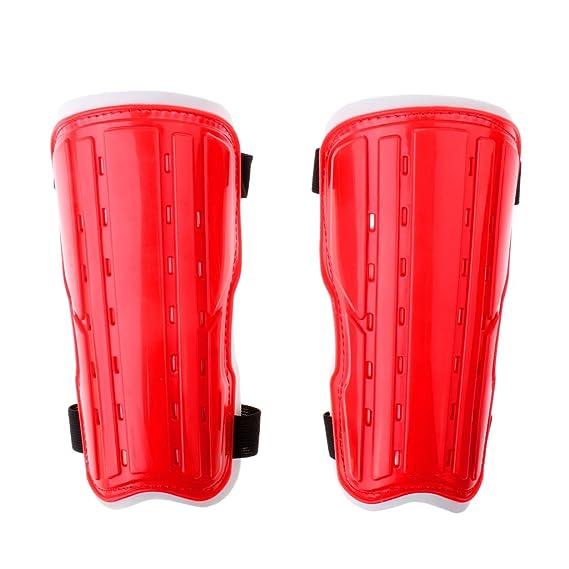 79eecd5b264224 Baoblaze Paio di Adulto Stinco Parastinchi Protezioni Accessori per Calcio  Cucina Rosso