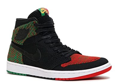 d2a179d2148 Nike Men s AIR Jordan 1 HIGH Flyknit BHM Shoe Black RED Green (11