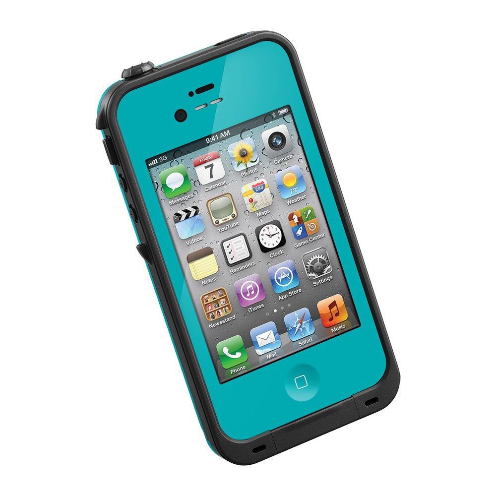 LifeProof FRĒ iPhone 4/4s Waterproof Case - Retail Packaging - TEAL/BLACK