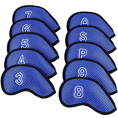 Sword &Shield sports 10Pcs/Pack New Meshy Golf Iron Covers Set Golf Club Head Cover Fit Most Irons. from Sword &Shield sports