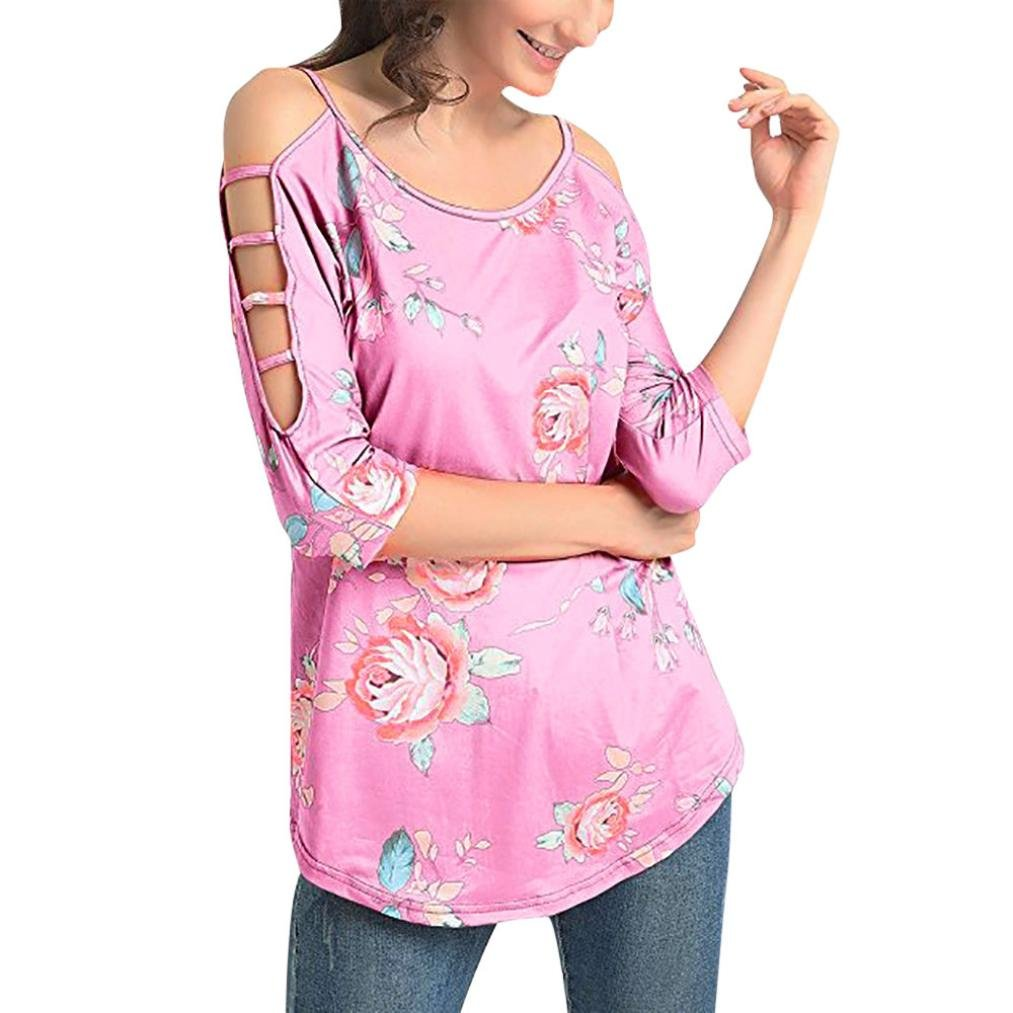 UONQD Woman downblouse dresses pantsuit ladies tops capri shorts womens chiffon sleeve top skirt two piece suit bloes patterns upblouse pants satin bow down(Small,Pink)