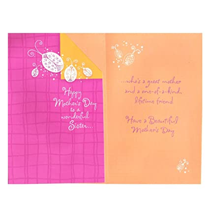 Amazon mothers day greeting card sister happy mothers day mothers day greeting card sister quothappy mothers day to a m4hsunfo