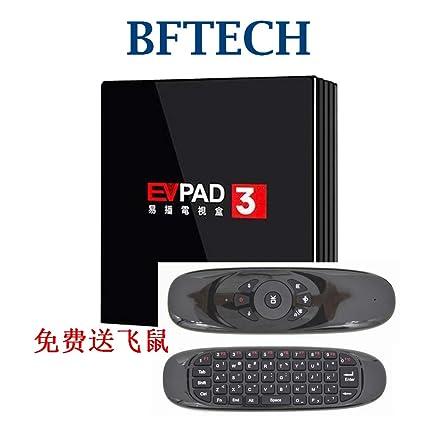 BFTECH Toronto-Store EVPAD 3 6K Android 7 0/BT4 1/2 4G/5 8G WiFi TV Box for  中国香港和台湾/韩国/日本/马来西亚/北美 - 直播频道和戏剧直播/回看