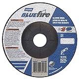 Norton Blue Fire Plus Depressed Center Abrasive Wheel, Type 27, Zirconia Alumina and Aluminum Oxide, 7/8'' Arbor, 5'' Diameter x 1/4'' Thickness (Pack of 25)