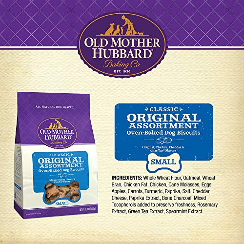 Old Mother Hubbard Classic Crunchy Natural Dog Treats, Original Assortment Small Biscuits, 3.5-Pound Bag
