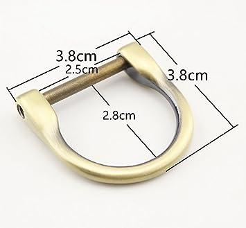 prix compétitif 7955a b4e1c 4 tailles différentes en alliage de zinc d'anneaux Anneau en D avec vis,  boucles démontable à vis pour la confection de sacs de sangles avec boucle  ...