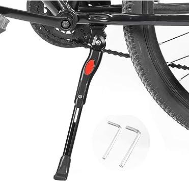 ADJUSTABLE MTB CYCLING SIDE KICK STAND BICYCLE KICKSTAND//ROAD BIKE ALUMINUM QZH