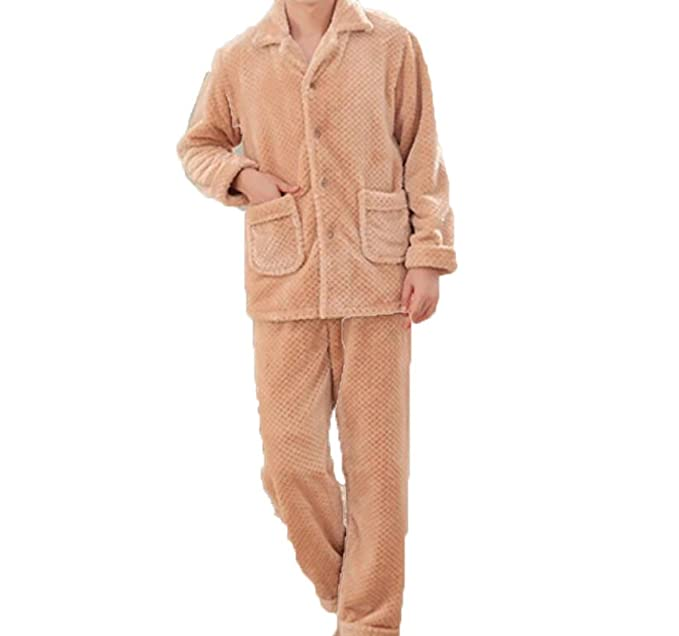 Pijamas Pantalones De Invierno Más Grueso Servicio A Domicilio Conjunto De Manga Larga Pijamas De Franela