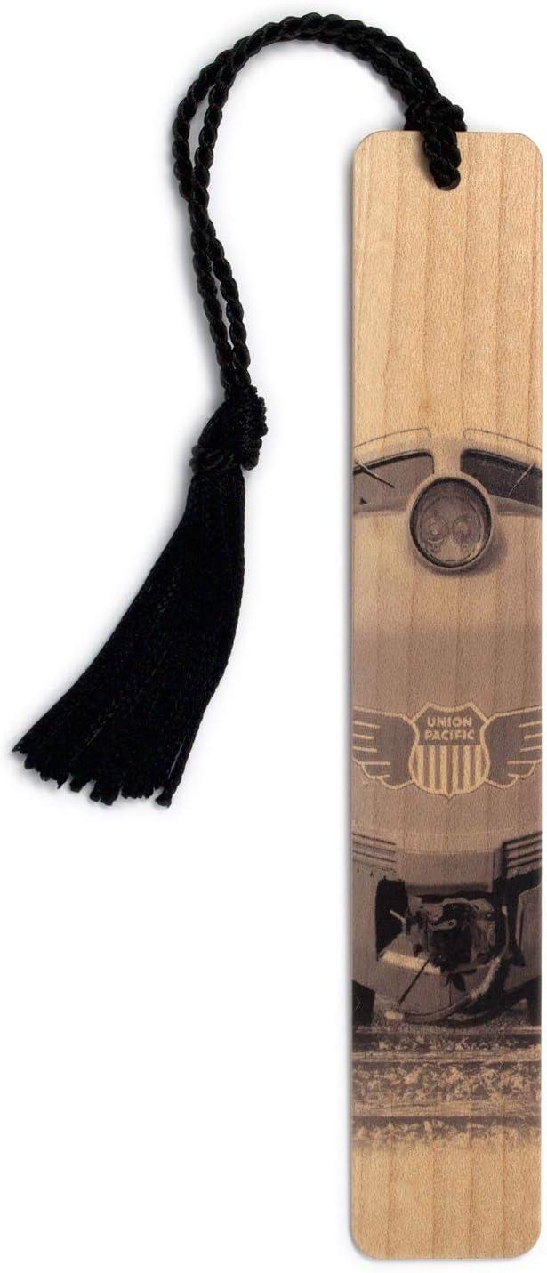 Gas Turbine Electric Union Pacific Locomotive Engine Handmade Wooden Bookmark with Tassel