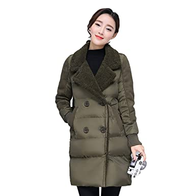 nihiug Piumino Outwear Down Coat Down Jacket Winter Clothes Cappotto Lungo  in Cotone da Donna  Amazon.it  Abbigliamento 870ed9550bd