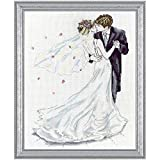 Design Works - Wedding Couple 2844 - Counted Cross Stitch Kit - 10 by 14 Inches - with Gift Card