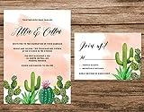Cactus Wedding Invitation, Desert Wedding Invitation, Cactus Watercolor Invitation, Pink Succulent Invitation