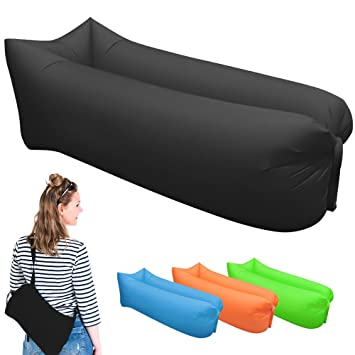 Homeme Inflable Tumbona, sofá sofá de Dormir Camas de Aire ...