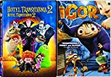 Monstrous Vacation for Monsters Hotel Transylvania 2 + Igor Double Feature Animated Cartoon Fun movies DVD Set