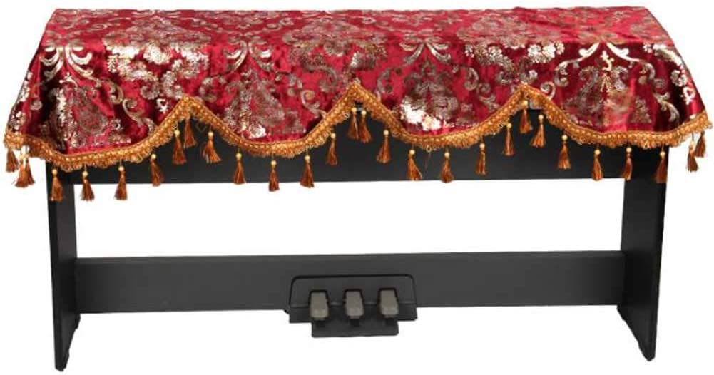 Red Keyboard Cloth Decorative Piano Dust Cover for 88 Key Electronic Keyboard