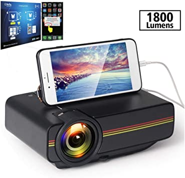 Proyector Twinyuan, Mini proyector portátil de Cine en casa LED ...