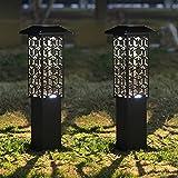 Maggift 12 Lumens 28 Inch Solar Garden Lights Outdoor Solar Landscape Lights Solar Outdoor Floor Lamp for Porch Lawn Patio Yard, 2 Pack