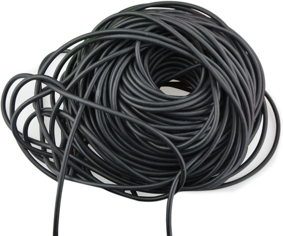 2050 1M Powerful Elastic Bungee Latex Rubber Tube Band Slingshot Catapult BLACK