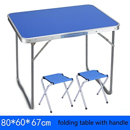 YXX- Tavoli e sedie pieghevoli in legno per esterni con manico per ...