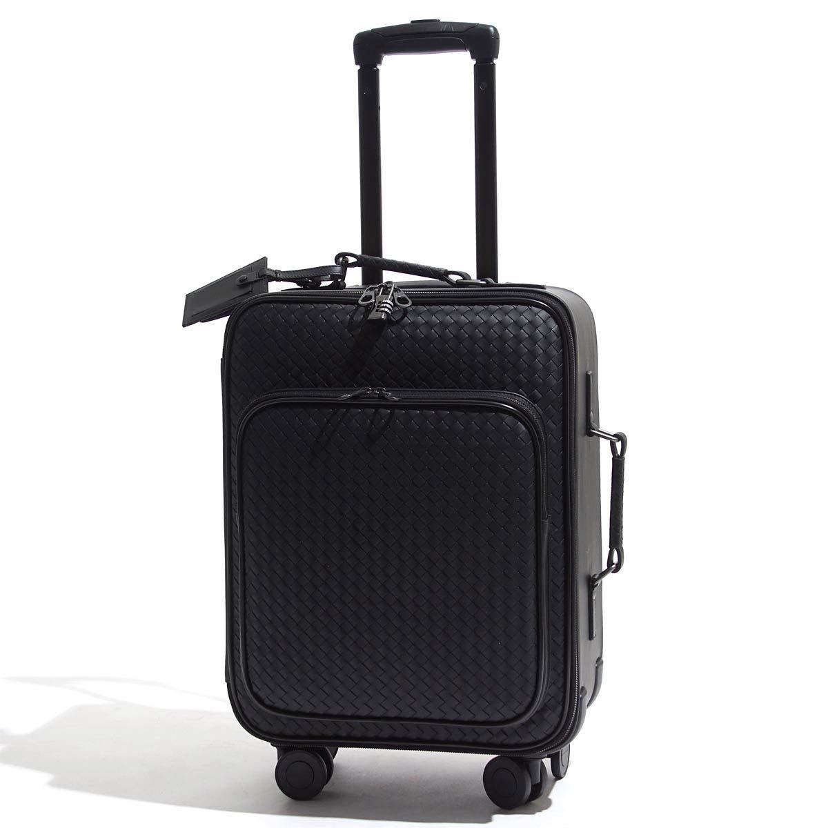 (ボッテガヴェネタ) BOTTEGA VENETA スーツケース/キャリーケース/TROLLEY INTRECCIATO VN イントレチャート VN トロリー [並行輸入品] B07NCR9JTH NERO Free