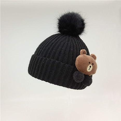 Gugutogo Bebé de invierno de punto caliente del sombrero infantil del ganchillo del cabrito del niño