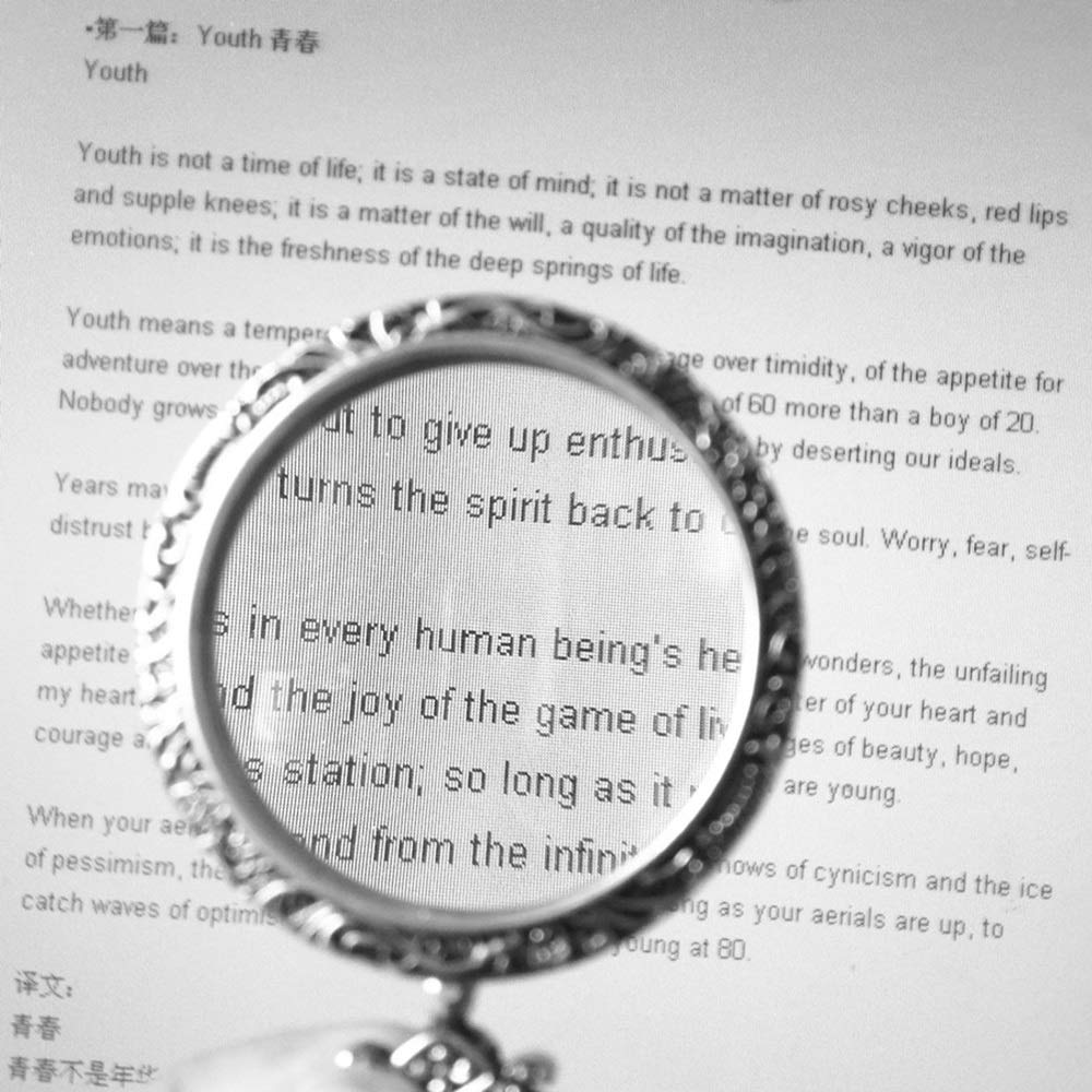 CLSTTOO Magnifying Glass with Necklace Proable Handheld 10X Magnifier Lens for Parents The Old to Read Small Prints FANGDJ Color : Gold