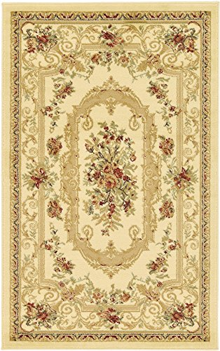 - Unique Loom Versailles Collection Traditional Classic Cream Area Rug (3' 3 x 5' 3)