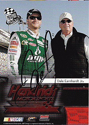 AUTOGRAPHED Dale Earnhardt Jr. 2009 Press Pass Racing HENDRICK MOTORSPORTS (ERROR Mis-Print) NASCAR Card Signed Collectible NASCAR Trading Card with COA