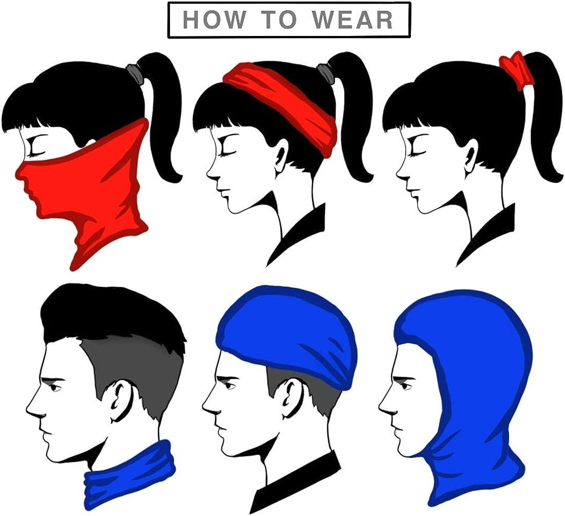 P/êche Yoga Outdoor Head Scarf R/ésistance aux UV Running Chapeaux Bandeau de cheveux /Écharpe Head Wrap Headband Bandeau de sport pour le visage Bandana Mask Neck Gaiter Magic Hair Scarf Cyclisme