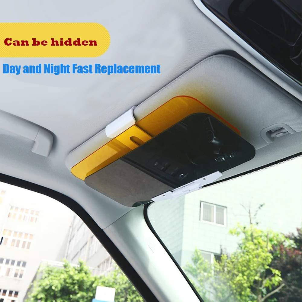 Gray Base Automobile Windshield Visor Upgrade 2 in 1 Anti-Glare Visor Day and Night Car Visor Extender HD Anti-Glare Dazzling Goggle Day Night Mirror Vision Marialove Car Sun Visor,