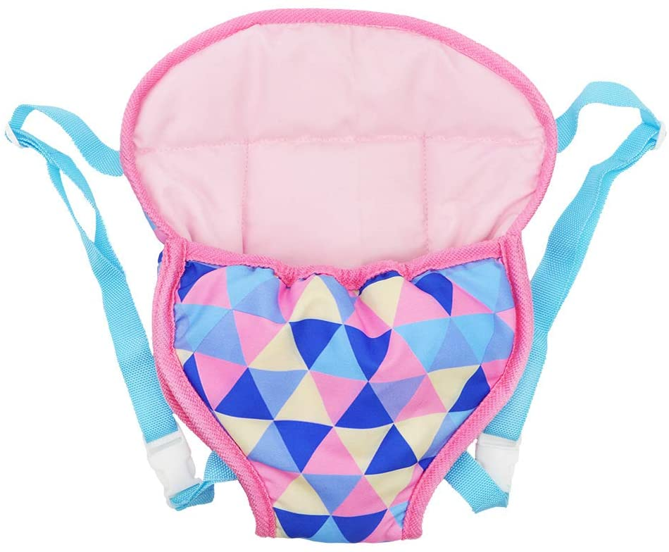 Fits 15 To 18 Inch Dolls XADP Baby Doll Carrier Backpack Doll Accessories Front//Back Carrier With Straps