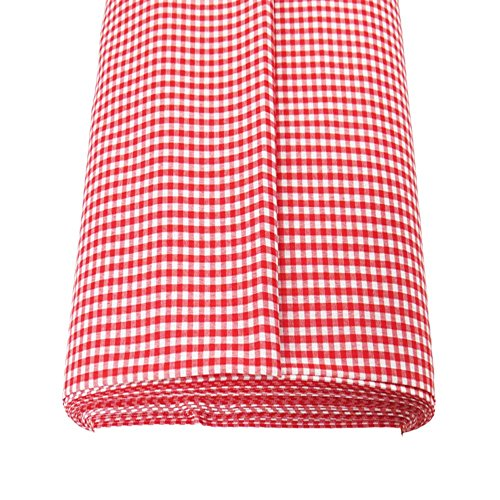 (Gingham Fabric, 100% Polyester, 60 Inches Wide, 1/8 Inch Check, Over 100 Yards in Stock - 1 Yard - Multiple Colors)