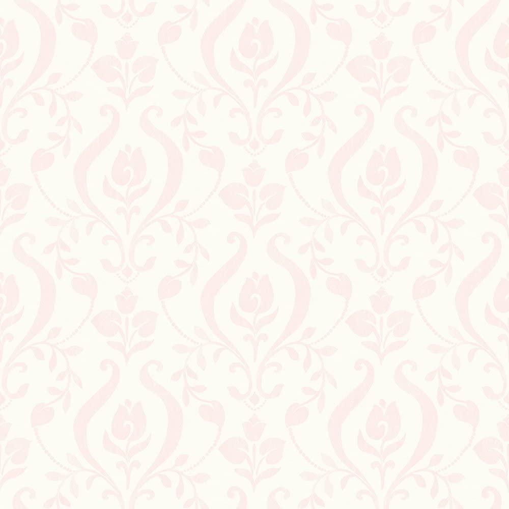 Chesapeake Has01253 Eloise Light Pink Damask Wallpaper Amazon Com