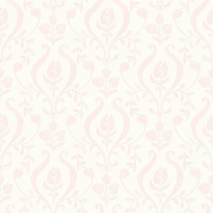 Chesapeake HAS01253 Eloise Light Pink Damask Wallpaper
