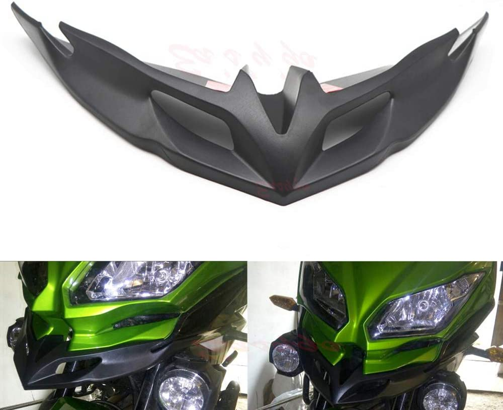 Easygo Replacement for Versys 650 2015-2019 Motorcycle Front Fairing Aerodynamic Winglets ABS lower Cover Protection Guards