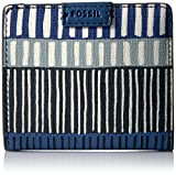 Fossil Emma Rfid Mini Wallet-Navy Stripe