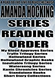 img - for AMANDA HOCKING: SERIES READING ORDER: A READ TO LIVE, LIVE TO READ CHECKLIST[My Blood Approves Series Trylle Trilogy Series Hollowland Series Hollowland Graphic Books Inevitable Trilogy Series] book / textbook / text book